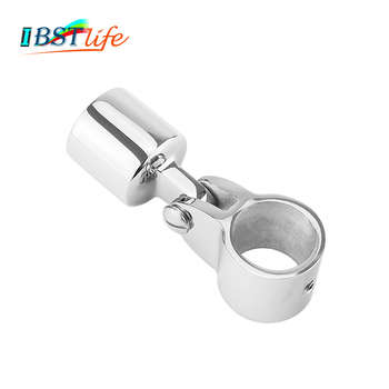 Stainless steel 316 Boat Bimini Top Fitting Slide Cap Slide Sleeve Pipe Eye End Cap Jaw Slide Clamp External Eye End Canopy Tube