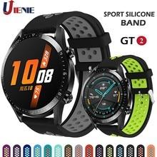 Correa de silicona para reloj inteligente, pulsera deportiva de 22mm para Huawei Watch GT 2 GT 46MM/GT 2e/HONOR