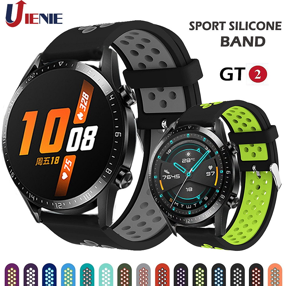 For GT2 Strap Silicone Watchband For Huawei Watch GT 2 GT 46mm /GT Active /HONOR Magic Band Sport Bracelet 22MM Wristband Correa