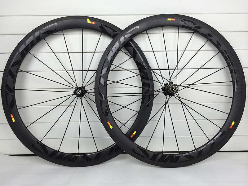 50mm carbone vélo de route roues jante frein 700C 23mm pneu tubulaire 3K Twill mat Fiber de carbone roues XDB expédition