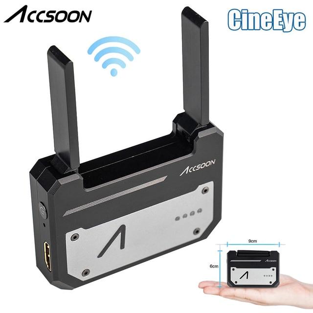 Accsoon CineEye 5G אלחוטי וידאו משדר מערכת כיס שידור HDMI 1080P HD שידור עד 100m עבור IOS אנדרואיד DSLRS