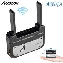 Accsoon cineeye 5 グラムワイヤレスビデオ送信機システムポケット伝送 hdmi 1080 1080p hd まで送信 100 メートル ios android デジタル一眼レフカメラ