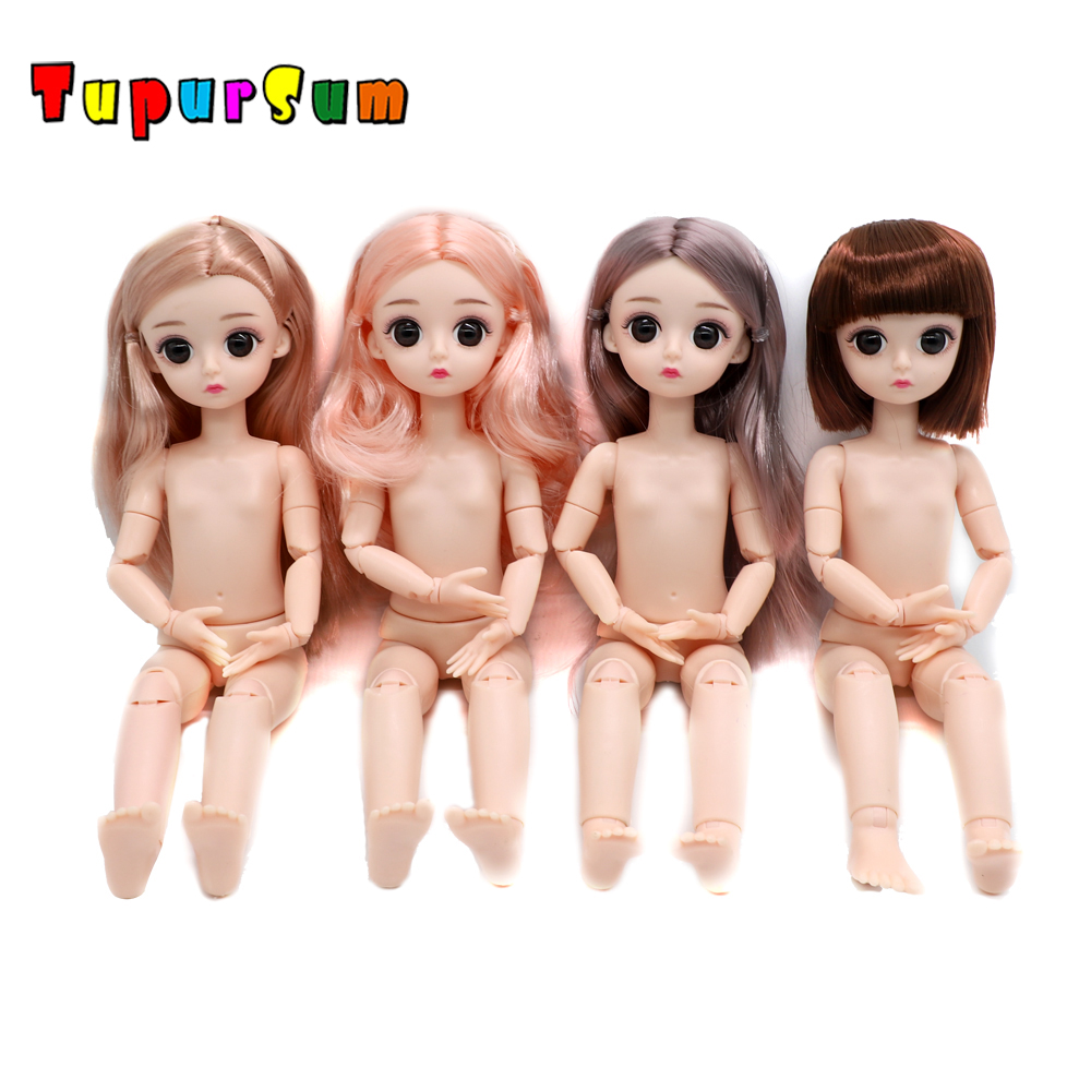 Blyther Doll Nude 22 Joint Moveable Body 30CM BJD Princess Surprise Doll Accessorie 3D Eyes Toys 1/6 DIY Fashion Dolls Girl Gift