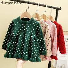 Humor Bear 2019 Spring Autumn New Baby Girl Dress Kids Cloth