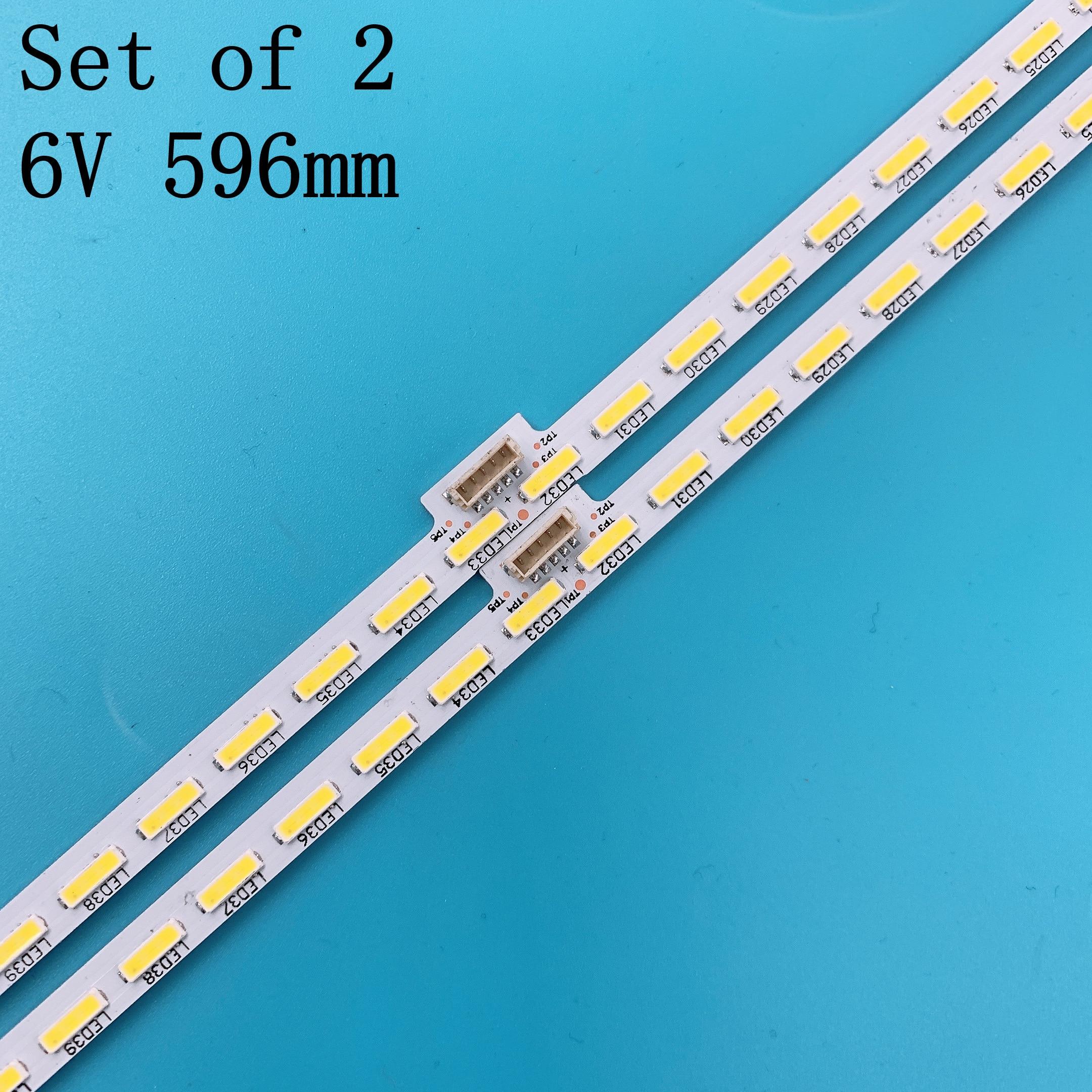 LED Backlight Strip 64 Leds For Sony Sharp YLS_HRN55_7020_REV2 V1.5 E162061 15521N SYV5541 KD-55X8500D KD-55X8505C KD-55X8508C