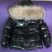 Children's Winter Down Jacket Real Fur Collar Toddler Clothing Kids Warm Outerwear For Baby Boys Girls 85-145 Parkas Coat