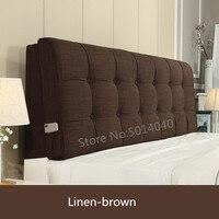Almofada de cabeceira almofadas de cabeceira pode ser personalizado lavável tecido de madeira maciça cama backboard macio capa de cabeceira