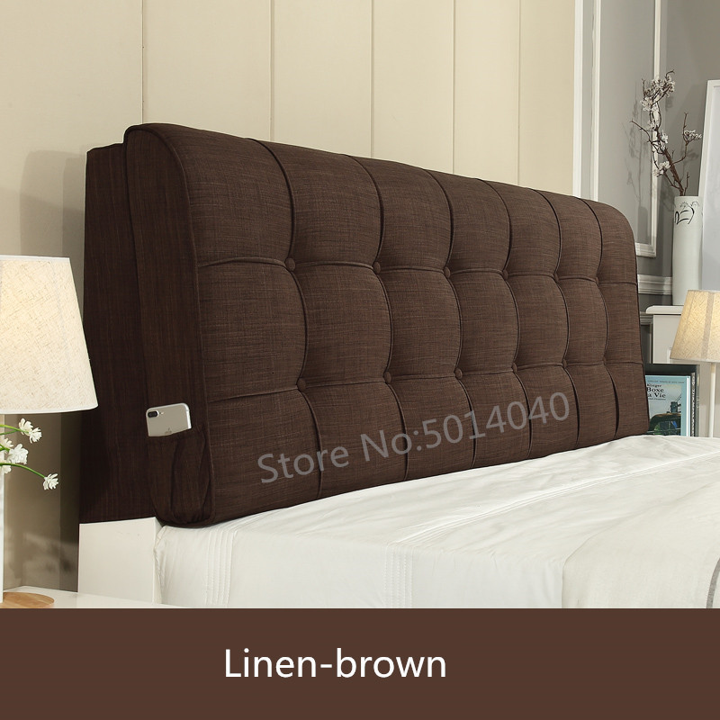 Headboard Cushion Headboard Pillows Can Be Customized Washable Fabric Solid Wood Bed Backboard Soft Pack Cover Headboard Cover