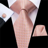 Hot Sale Wedding Pocket Square Pink Solid Ties For Men Suit Gravatas Corbatas 8.5cm Necktie Cravat Male Handkerchief SN-3233