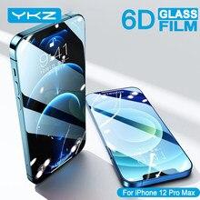 YKZ – protecteur d'écran pour iPhone, Film à couverture complète, en verre trempé, à bord incurvé, pour modèles 6, 7, 8, 11 Pro Max, XR, XS, SE