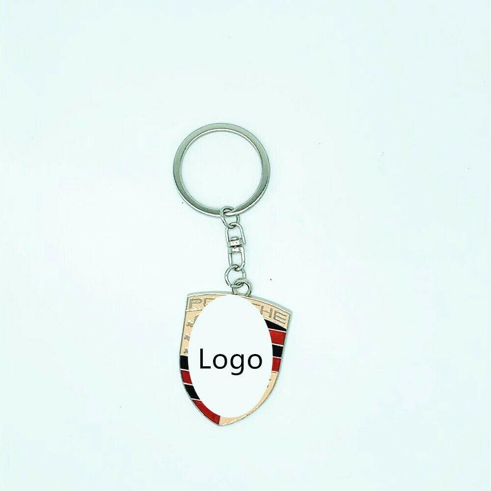 Брелок для ключей с 3D логотипом автомобиля, брелок из цинкового сплава для Porshe