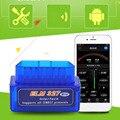 Портативный ELM327 v2.1 OBD2 II Bluetooth диагностический сканер инструмент авто интерфейс сканер Синий Премиум ABS диагностический инструмент