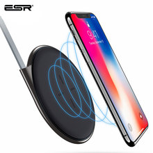 ESR מטען אלחוטי צ י Ultra Slim אלחוטי טעינה מהיר מטען עבור iPhone X 11 SE 2020 8 בתוספת לxiaomi סמסונג S20 Note10