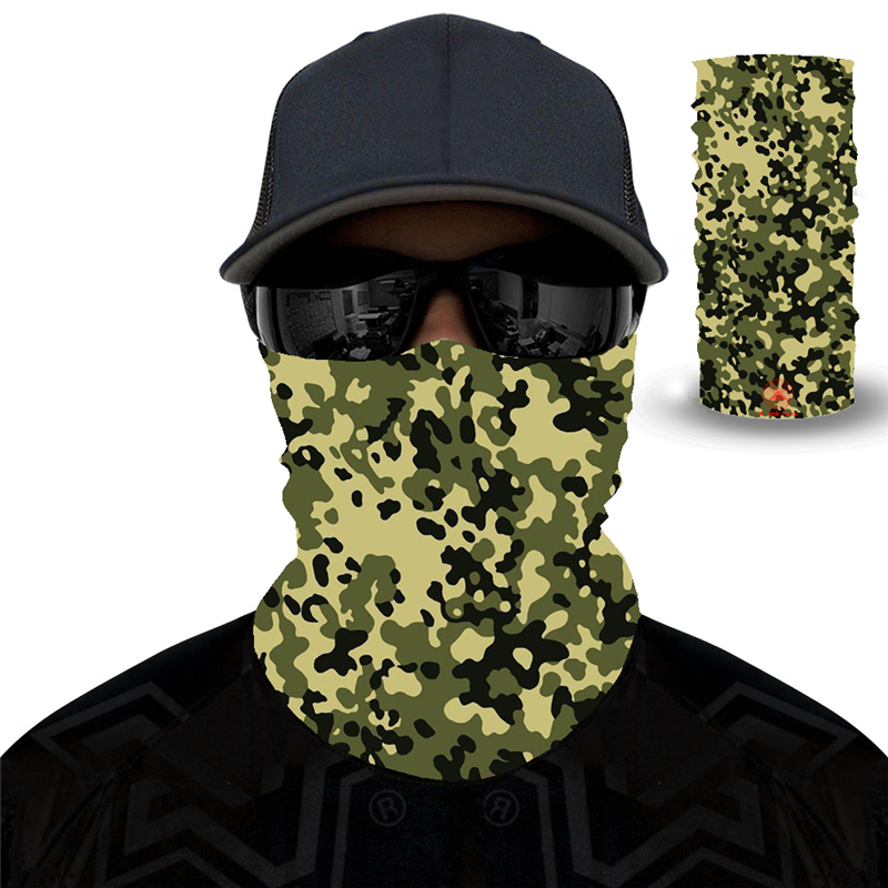 Camouflage Polyester Scarves Face Dust Mask Outdoor Sport Cycling Bandanas Camping Hiking Washouts Headwear Magic Scarf 27style