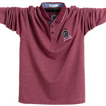 Nieuwe 2020 Mannen Polo Shirt Katoen Herfst Winter Comfortabele Slim Fit Shirt Lange Mannen Polo Shirts Leisure Shirts Mannelijke 5XL plus Size