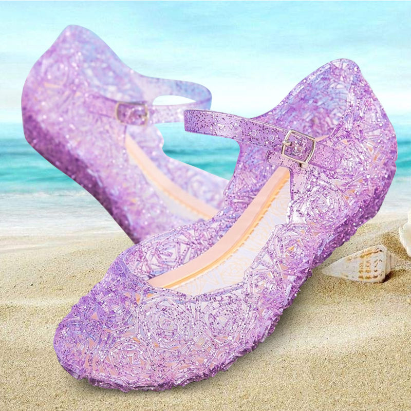 Transparent Sandals Children Girls Summer Wedges Shoes Wear Resitant Candy Colors Cheap Shoes Baby Casual Slides