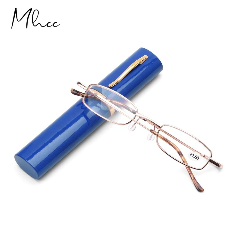 + 1,5 2,0 2,5 3,0 3,5 4,0 очки для чтения для женщин и мужчин ультралегкие портативные Металлические Мини очки для дальнозоркости диоптрии плюс