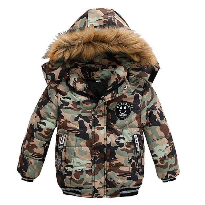Toddler Kids Warm Autumn Winter Jackets Boys Outerwear Coats Christmas Baby Coat Snow Wear Boys Parka Snowsuit With Fur Collar 1