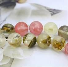Perles rondes en tourmaline pastèque, rose multicolore, 14mm, 15 pouces, en vrac