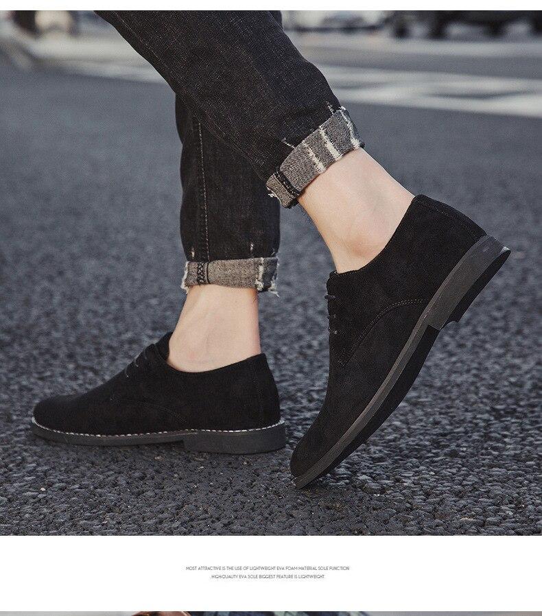 H47ed814d6e0e48dfb636994fe6bd7290p Merkmak Fashion England Trend Casual Shoes Men Flock Oxford Wedding Leather Dress Men Flats Waterproof Men Shoes Plus Siz