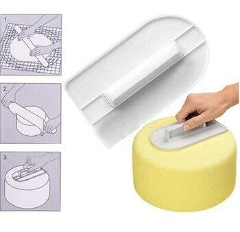 1 Pcs  Icing Fondant Cake Decorating Sugar Craft Sugarcraft Icing Mold Plastic Cake Smoother Polisher Tools Bakeware