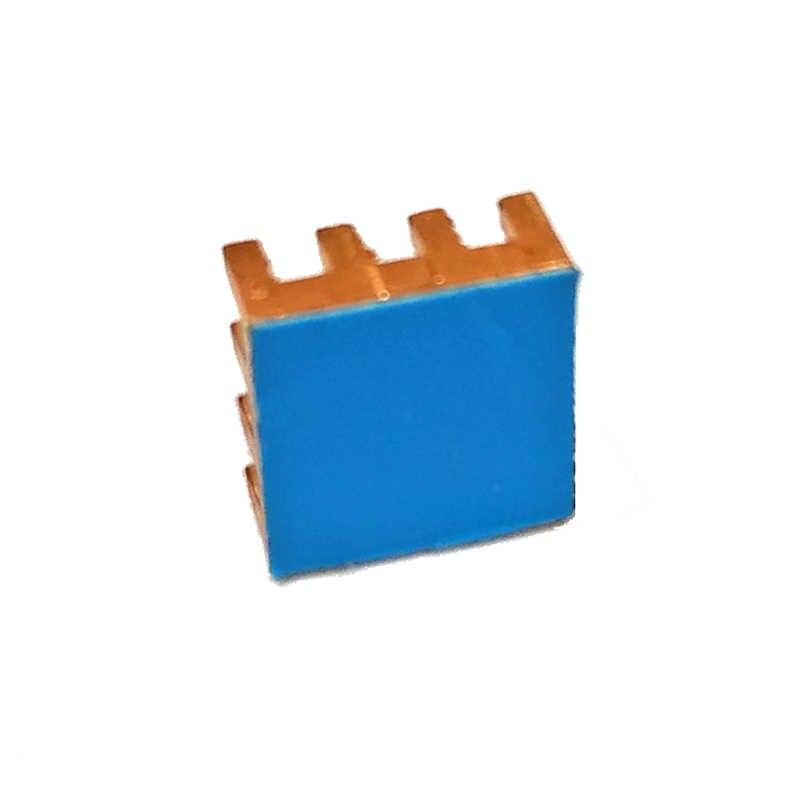 Mini disipador de calor de cobre puro de memoria RAM de refrigeración trasera adhesiva para VGA RCD MOS GPU IC Chipset radiador disipador de calor 9x9x4mm