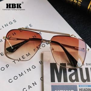 2020 New Fashion Classic Pilot Sunglasses Cool Men Vintage Brand Design Sun Glasses Black Gray Gradient Lens Women Shades Oculos