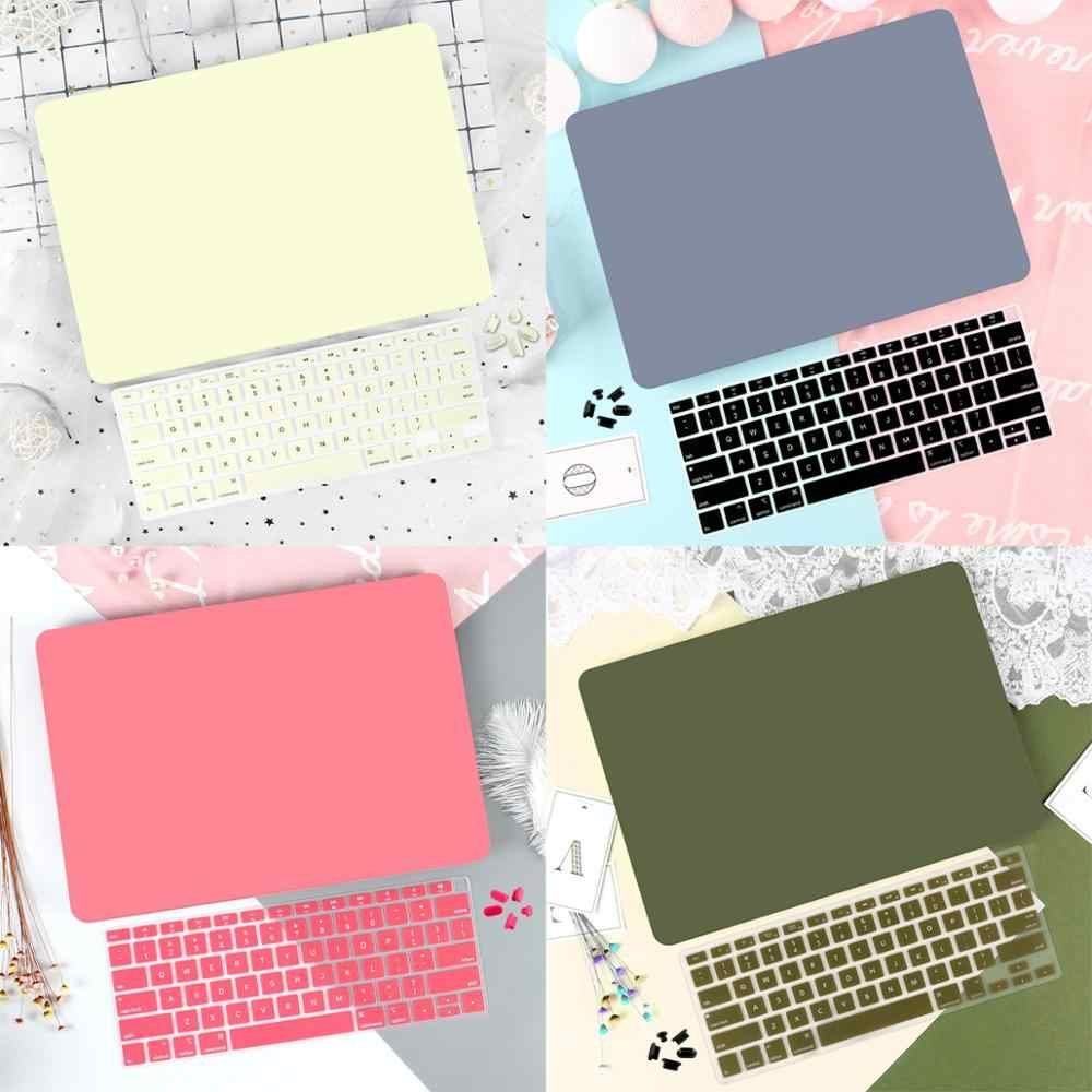 4 In 1 Laptop untuk MacBook Air 11 13 Inch & Pro Retina 16 13.3 15 2019 2018 Kristal matte Hard Shell Cover Keyboard Kulit