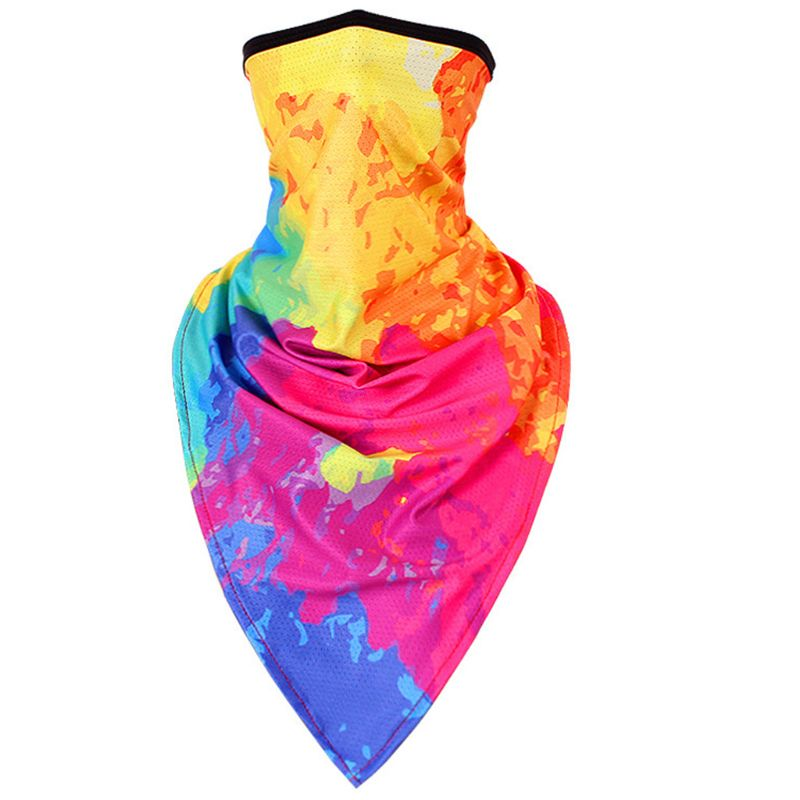 Unisex Neck Gaiter Face Triangle Scarf Sunscreen Ice Silk Graffiti Bandana Mask Premium Quality