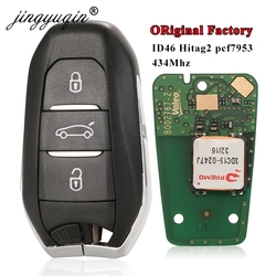 jingyuqin for Citroen DS4 DS5 433MHz 4A-Hitag-AES ID46 Hitag2 Chip Smart Keyless Go VA2 HU83 Remote Key 3BTN Original Factory
