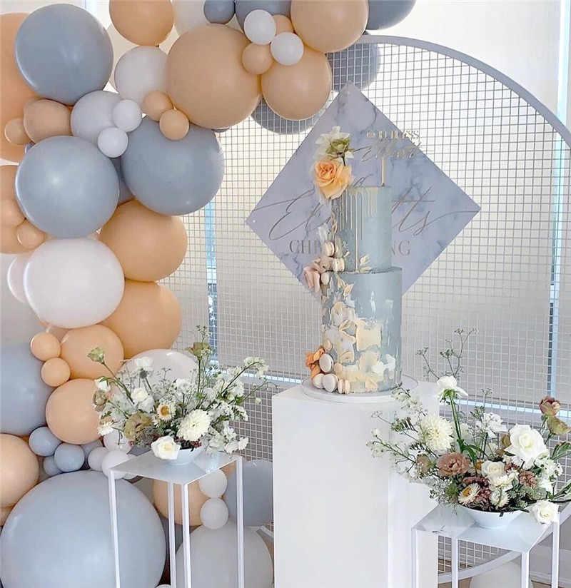 108 قطعة بالونات باستيل اللاتكس معكرون رمادي الخوخ بالون جارلاند عدة طوق من البالونات الزفاف عيد ميلاد الطفل دش زينة الحفلات