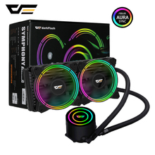 darkFlash CPU Cooler PC Case Water Liquid Cooling AIO Cooler Radiator 240mm RGB fan Sync for AMD Ryzen/LGA 2066/2011/155X