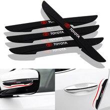 Tira de parachoques anticolisión para puerta de coche, pegatina protectora de borde lateral para Toyota Prius Avensis Rav4 Auris, Yaris Verso Land, 4 Uds.