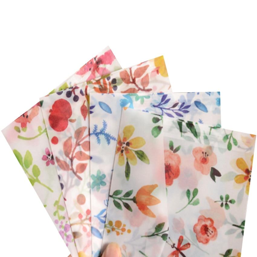 10pcs/pack Translucent Envelope Special Sulfuric Acid Paper Color Printing Envelope Small Fresh Letter Paper Sobres Invitacion
