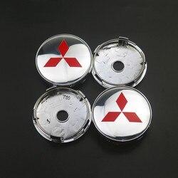 60mm osłony piasty samochodu znaczek z symbolem Logo osłona środkowa koła dla Mitsubishi lancer asx outlander pajero l200 galant|Nakładki na koła|Samochody i motocykle -