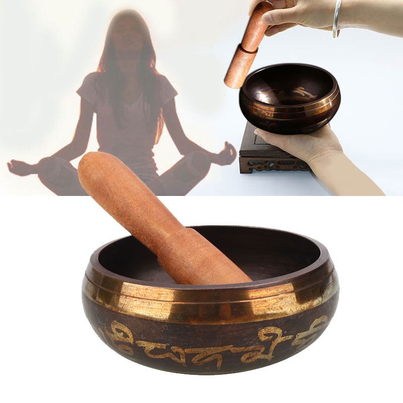 Buddhism Copper Singing Bowl Handmade Yoga Meditation Buddha Sound Chanting