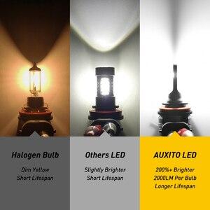 Image 2 - AUXITO 2X H11 żarówki LED światła przeciwmgielne H8 H9 H16 JP LED CSP 6000k biały/3000k złoty żółty 12V 24V DRL samochód do jazdy dziennej lampa samochodowa