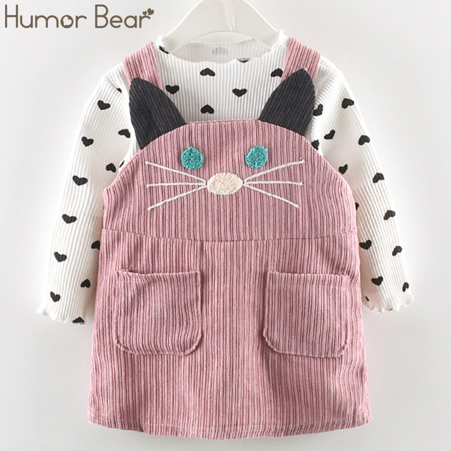 Cute Cat Strap Clothes Sets for Girls 2