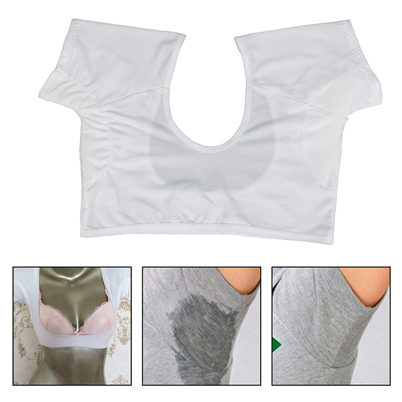 1 Pc T-shirt Shape Sweat Pads Reusable Washable Underarm Armpit Sweat Pads Perfume Absorbing Anti M Model Weight Is Under