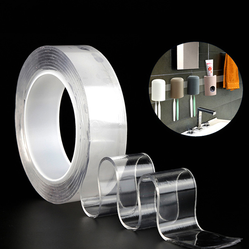 1 рулон Nano лента-липучка «Magic Tape» Многоразовые моющиеся двухсторонняя прозрачная клейкая лента Nano лента не оставляет следа пасты съемные ст...