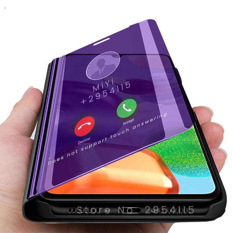 A41 fundas smart caso espelho capa para samsung galaxy a12 a41 41a a 12 41 6.1 stand stand suporte do telefone flip book capa samsunga41 caso