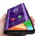 A41 fundas умный зеркальный чехол для samsung Галактики a12 a41 41a 12 41 6,1 ''подставка для телефона с Откидывающейся Крышкой coque Капа samsunga41 caso