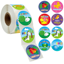 500pcs cute animals spanish reward stickers for teacher students encouragement words sticker kids motivational cartoon stickers