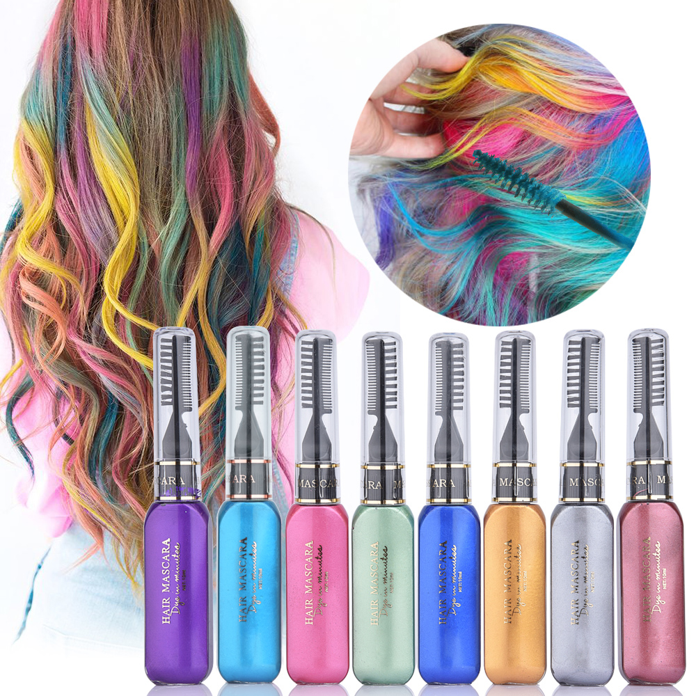 6PCS/8PCS/Set Colored Hair Chalk Comb Temporary Dye For Kid Girls Party Cosplay DIY Festival Dress up for All Hair Wax Color 1