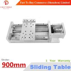 Skok 900mm C7 CNC elektryczny stół przesuwny śruba pociągowa 1605 prowadnice liniowe repozycjonowanie rozdzielczość 0.02mm dla maszyny CNC w Prowadnice liniowe od Majsterkowanie na