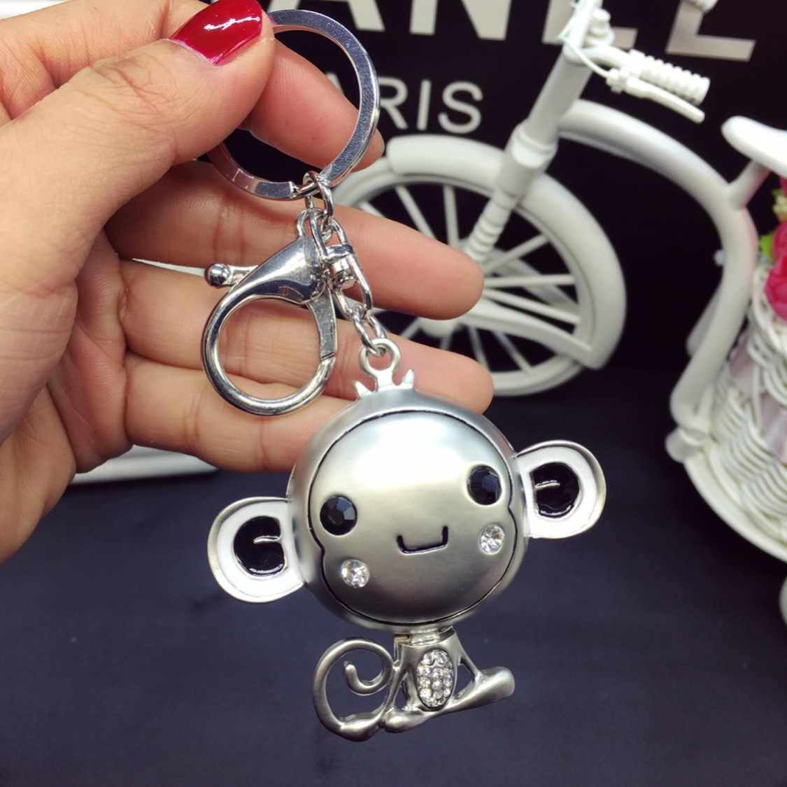 น่ารักชายหญิงคู่ Key CHAIN หวาน hip hop ลิง rhinestone Key CHAIN แหวนเอวจี้ Key CHAIN