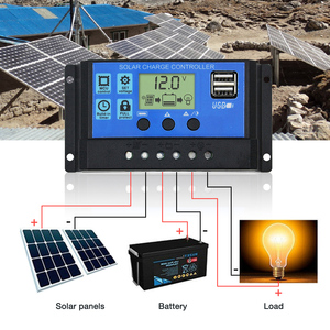 Image 4 - Dokio 12/24v 10A/20A/30A PWM Solar Controller For Solar Panel LCD Display Solar Regulator With USB Socket