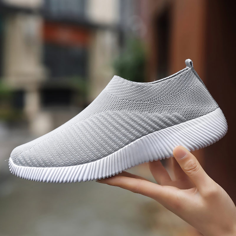 Women sneakers Sock sneaker Women Casual Shoes Plus Size 43 Knitting Slip On Sports shoes Mesh Breathable Light Weight Flats
