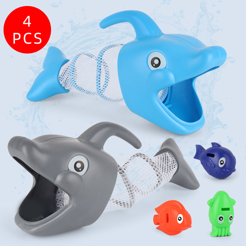 Children Cartoon Sunny Dolphin Fish Hunt Pool Game Baby Bath Hand Fishing Toys Gift For Girls And Boys