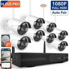 Security Camera System Wireless, 8CH 1080P H.265 PRO Wireless CCTV Camera System HD Security Cameras, P2P WiFi Security Camera